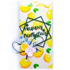 """Конверт для денег ручной работы """"Happy Birthday!"""" арт. К_009"""